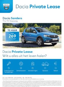 Dacia PrivateLease NL 2