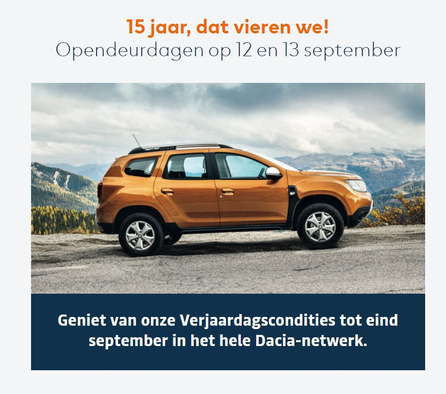 opendeurdagen dacia september 2020